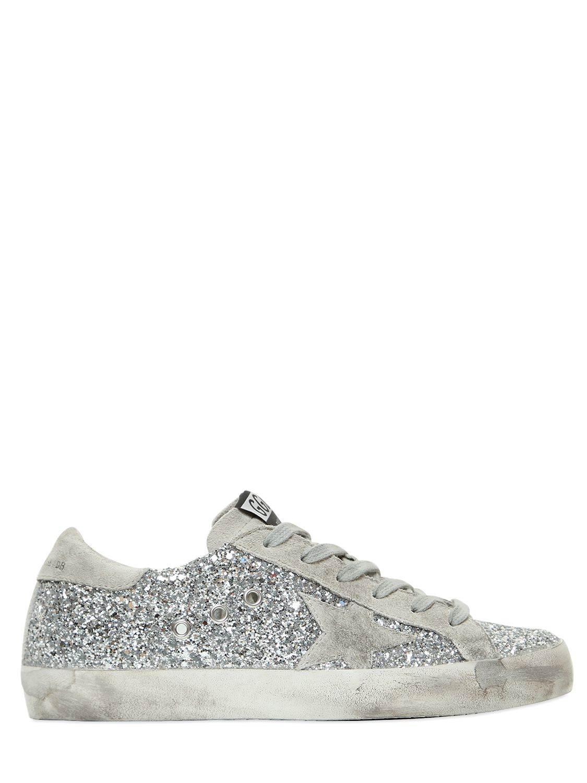 ead2816bab72ea Lyst - Golden Goose Deluxe Brand Super Star Glitter   Suede Sneakers ...