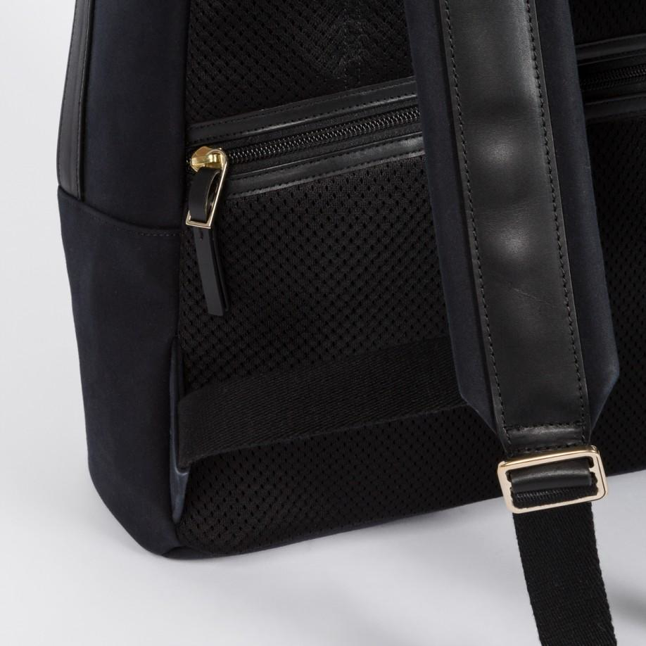 Paul smith Men's Black Canvas Travel Backpack in Black for Men | Lyst