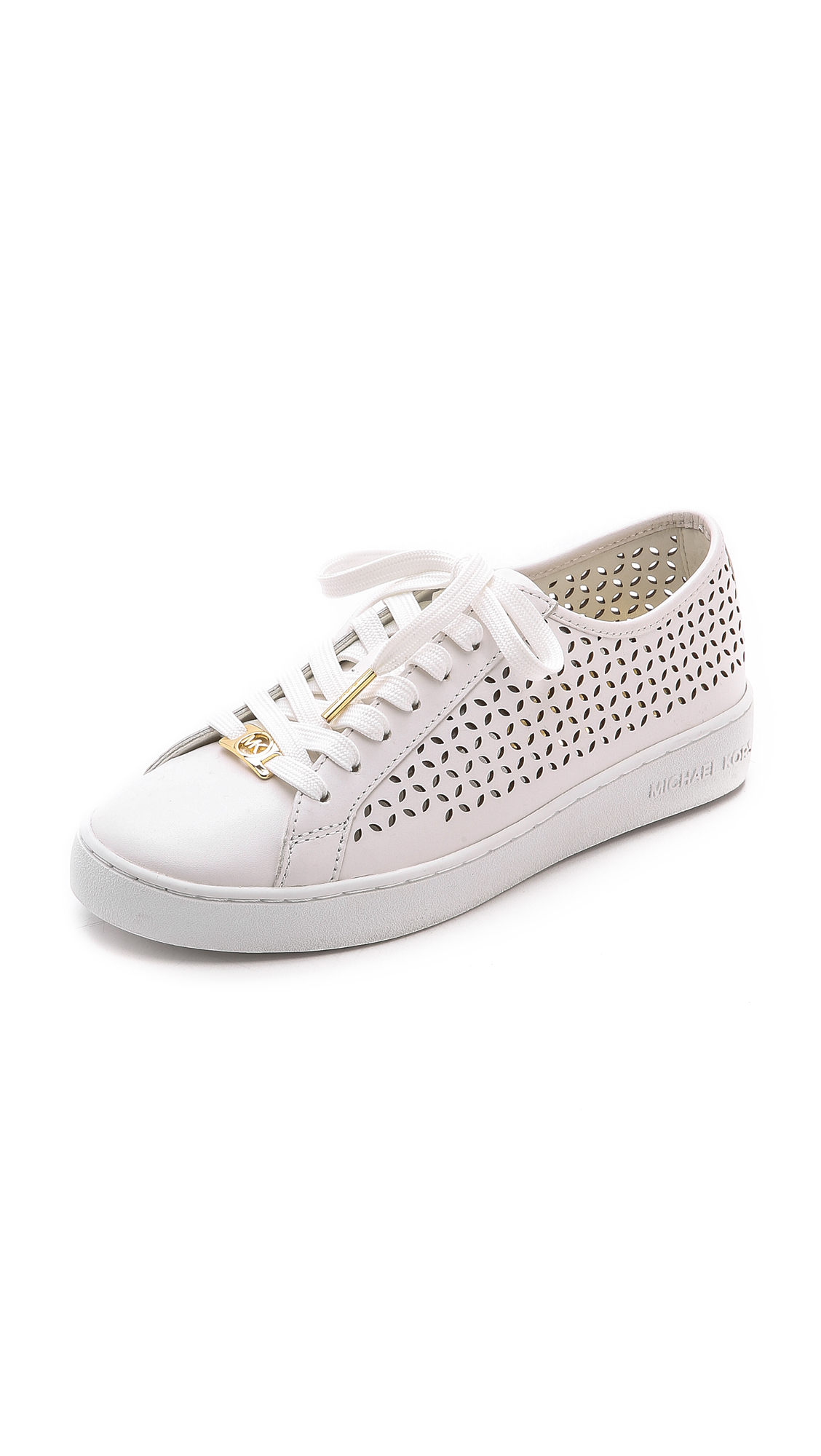 9d9c759c4ab MICHAEL Michael Kors Olivia Lace Up Sneakers - Optic White in White ...