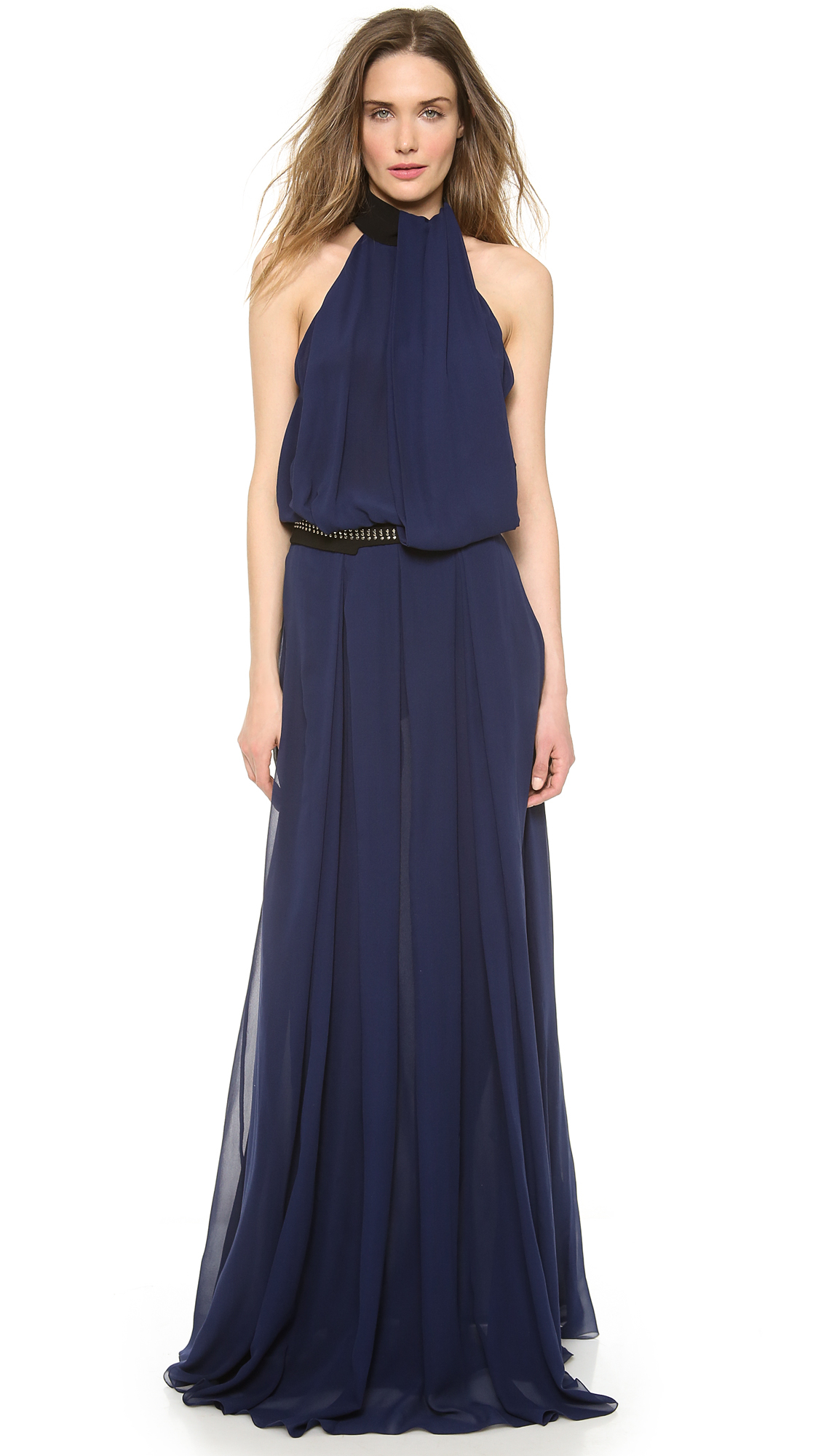 Gown - Flowing and feminine, a halter neck maxi dress or floor-length gown is a versatile addition to your wardrobe. For casual wear, pair a maxi dresses with sandals, but for a sweeping halter neck gown, add heels and jewelry for an elegant statement.