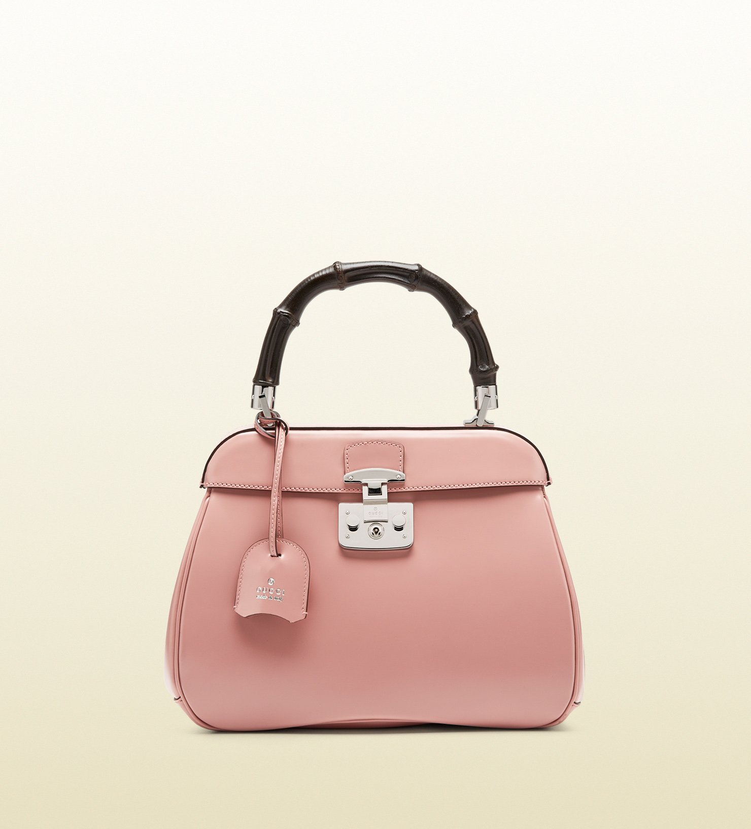 bbf1d67f110 Gucci Lady Lock Leather Top Handle Bag in Pink - Lyst