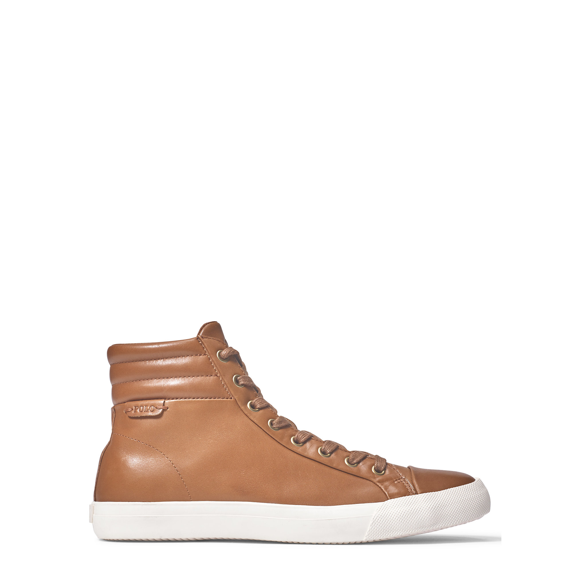 polo ralph lauren geffron leather sneaker in brown for men lyst. Black Bedroom Furniture Sets. Home Design Ideas