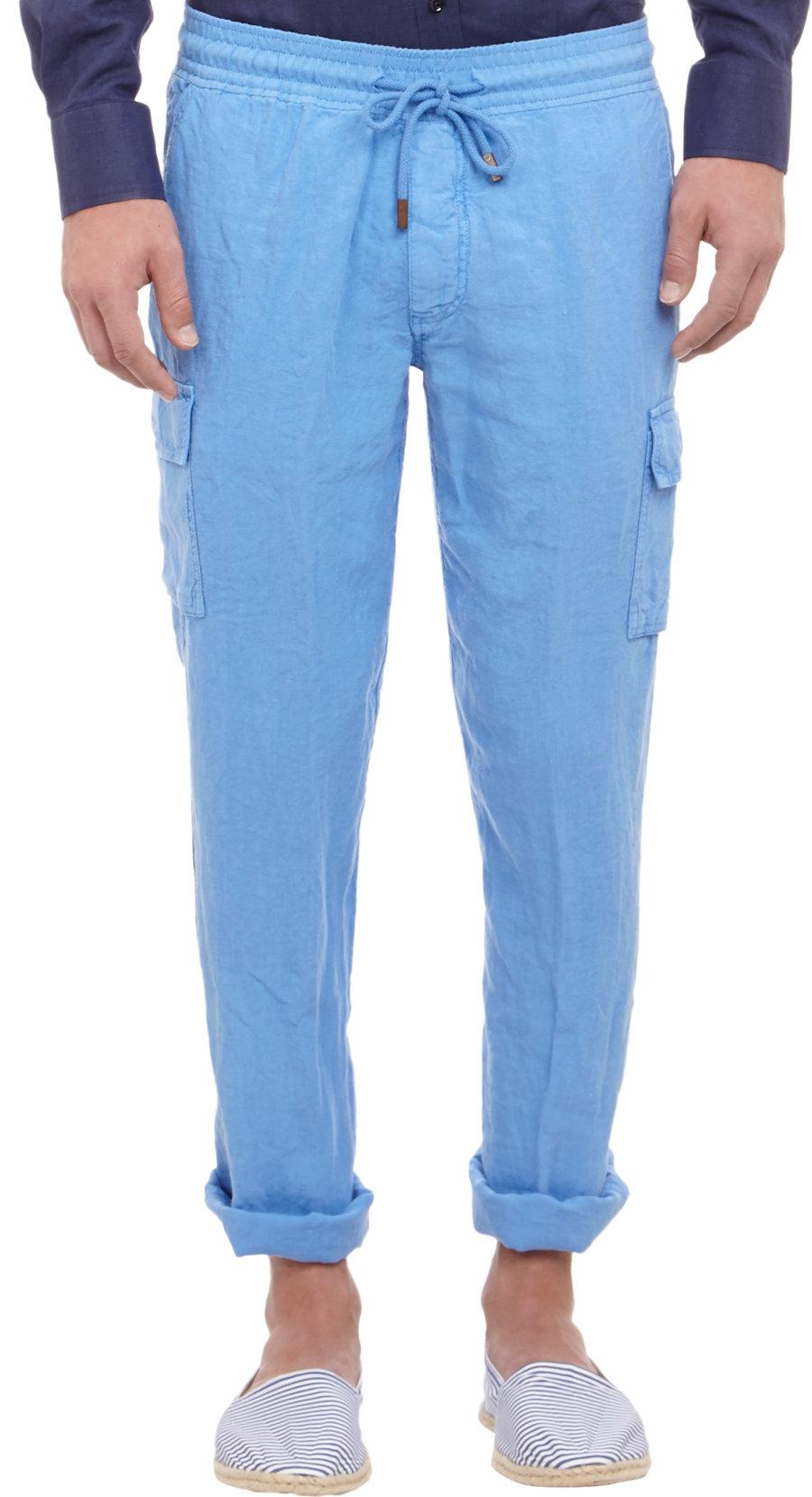 Lyst Vilebrequin Linen Cargo Pants In Blue For Men