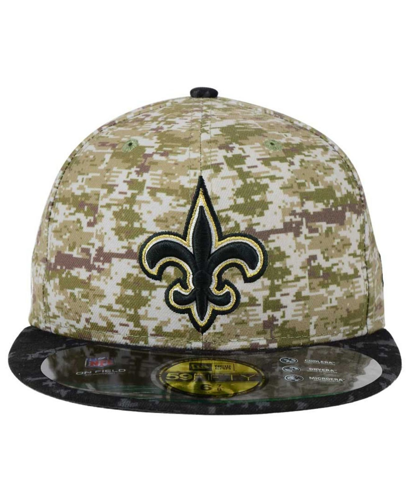 Lyst - KTZ New Orleans Saints Salute To Service 59fifty Cap in Green ... 43be46581