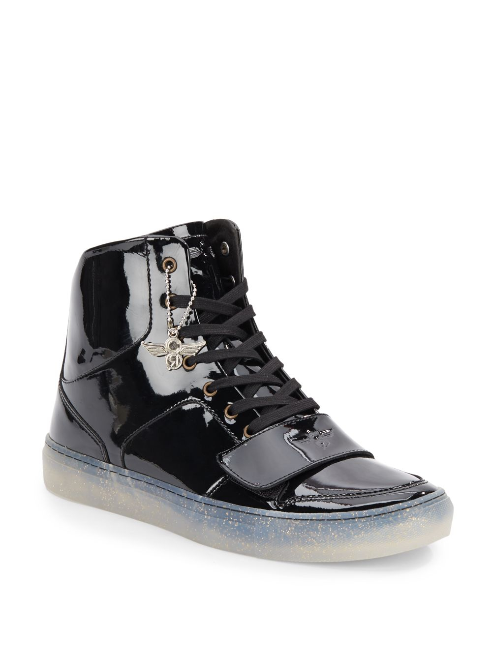 Creative Recreation Patent Leather High Top Sneakers In