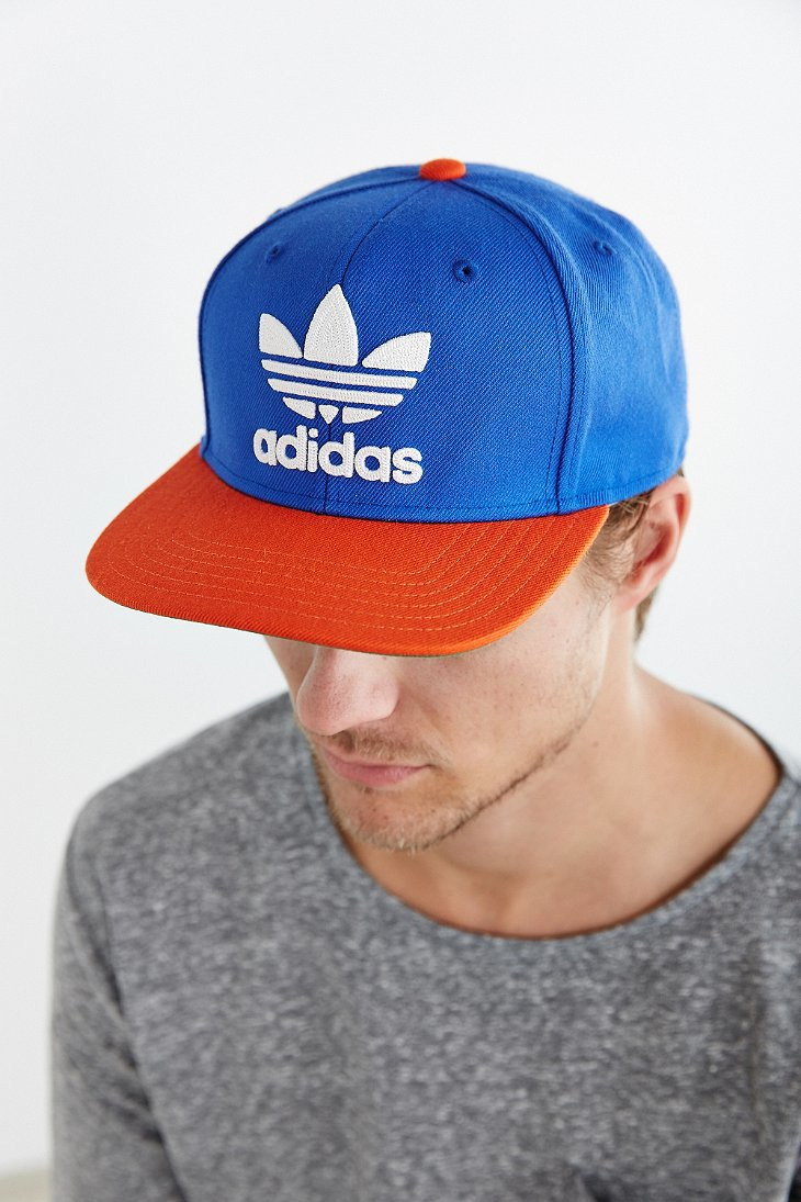 Lyst - adidas Originals Originals Trefoil Snapback Hat in Blue for Men e7d794282fb