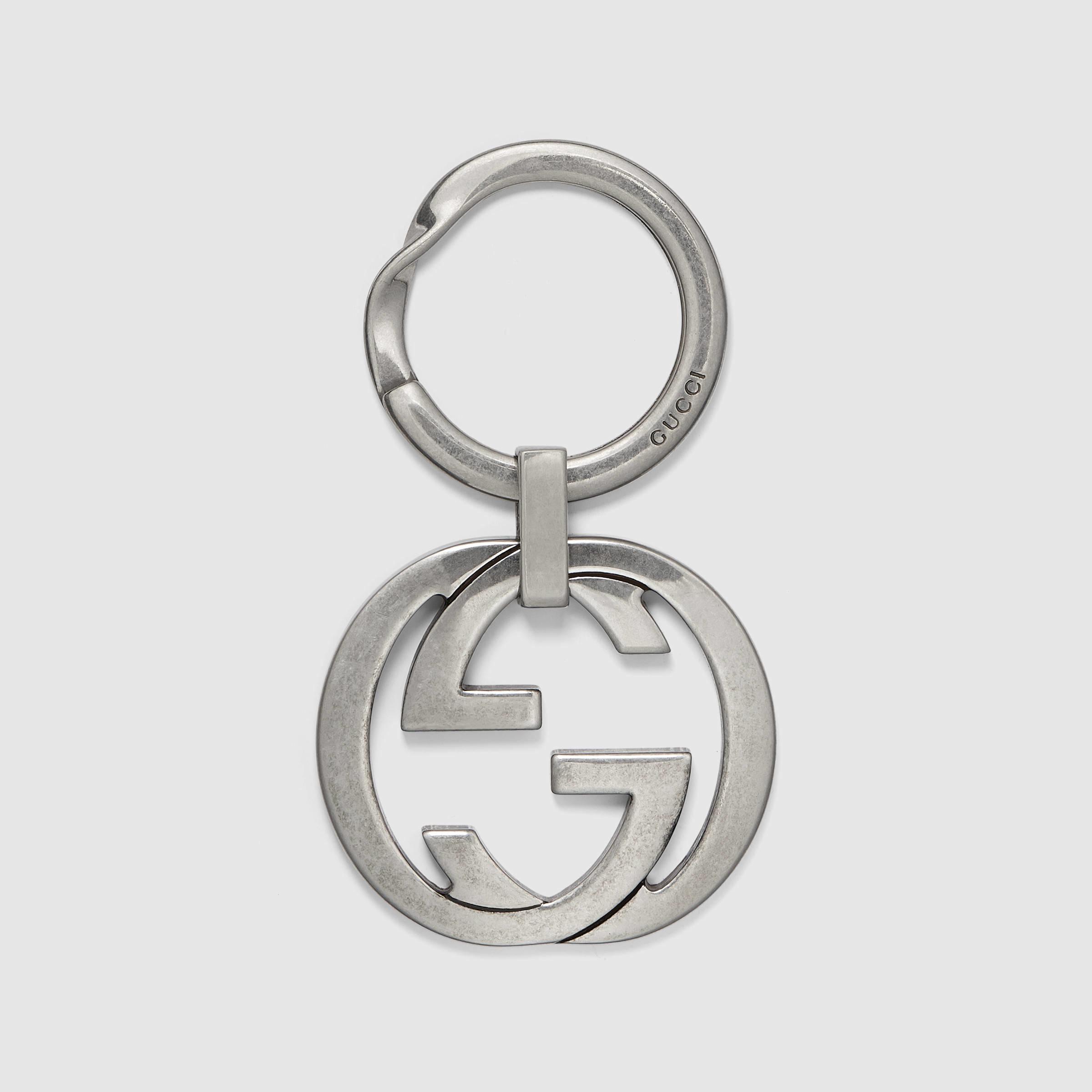 329508d92c5 Lyst - Gucci Interlocking G Key Ring in Metallic