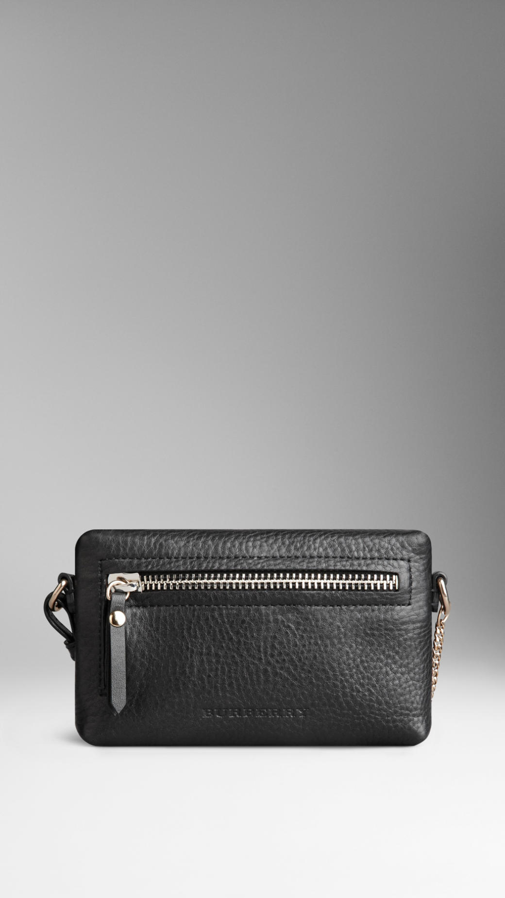 49595875e697 Lyst - Burberry Mini Grainy Leather Crossbody Bag in Black