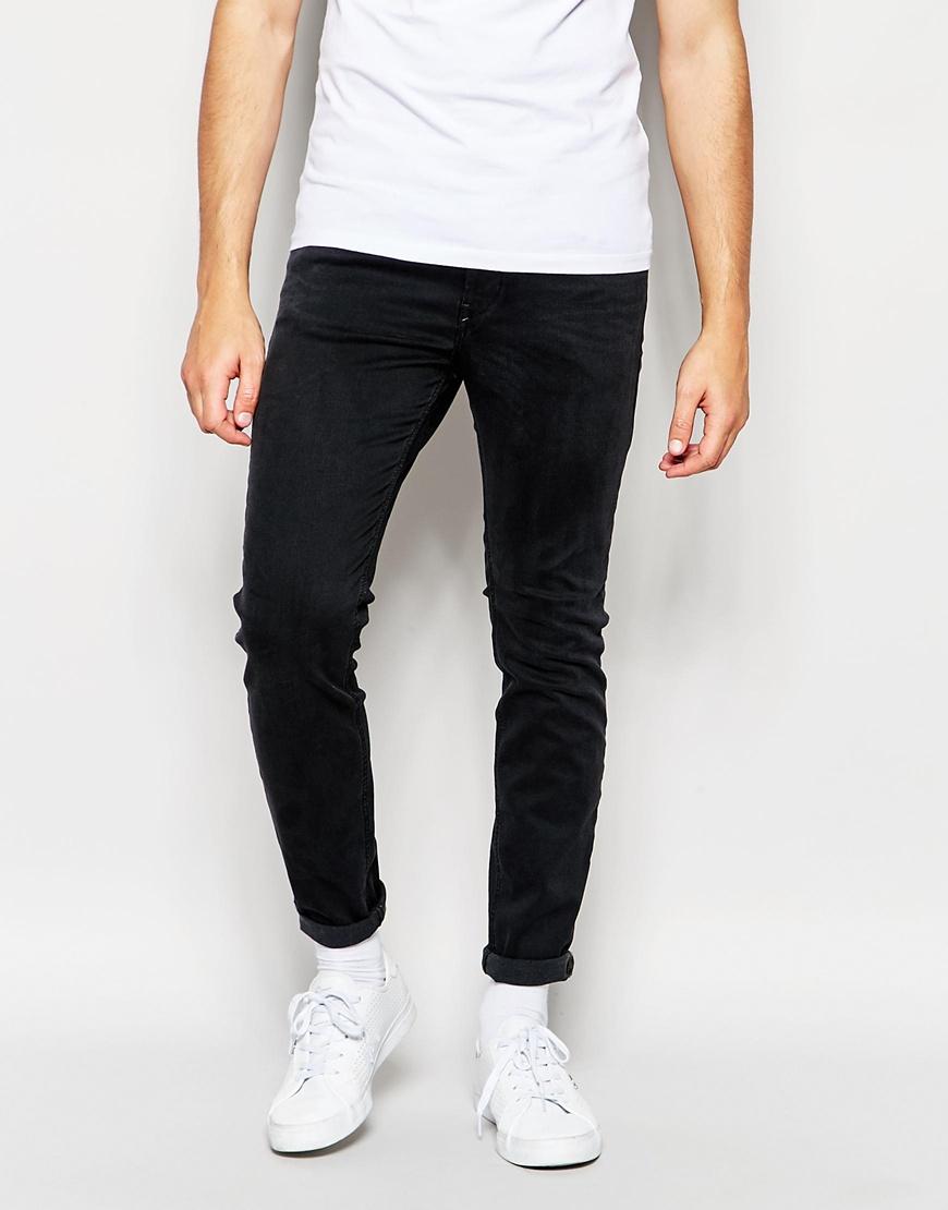 Diesel Jeans Stickker 844v Super Skinny Stretch Soft Black in ...