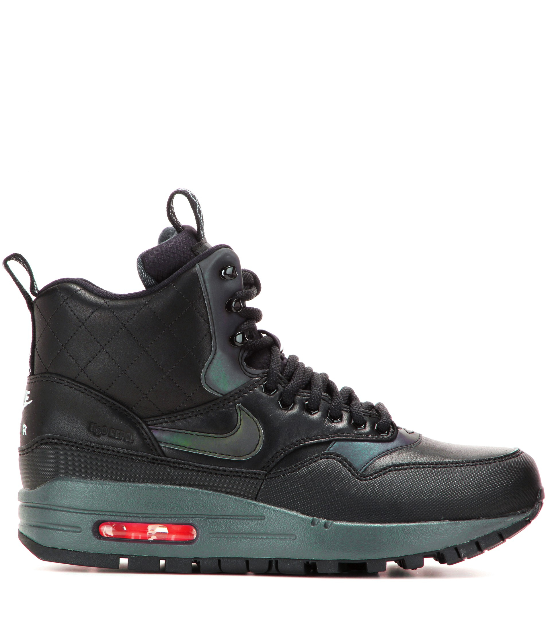 finest selection f7ba8 48b1f Nike Air Max 1 Mid Sneaker Boots in Black - Lyst