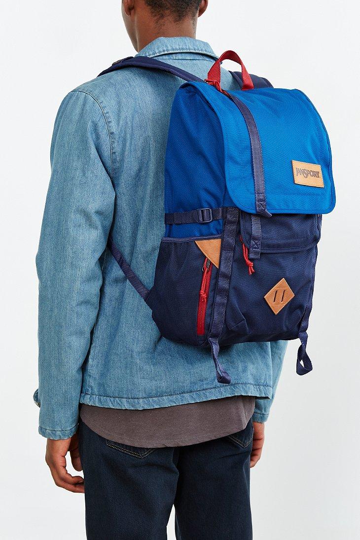 Lyst - Jansport Hatchet Colorblock Backpack in Blue for Men