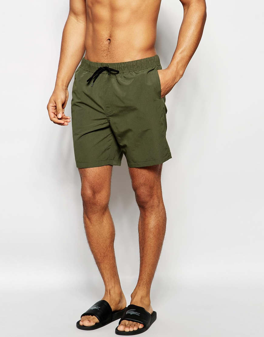 Mens Khaki Swim Shorts - The Else