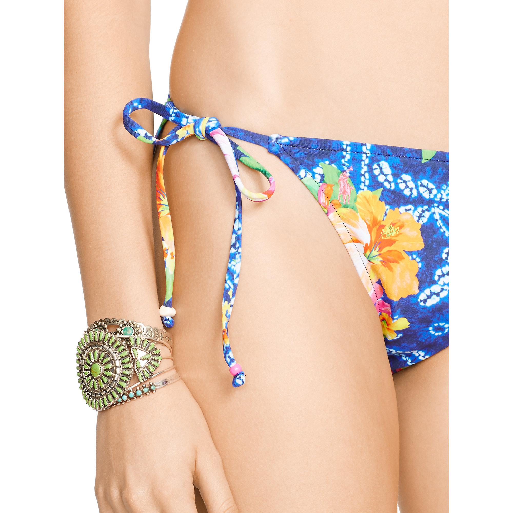 Polo ralph lauren Floral Ricky Bikini Bottom in Floral (Tropical Shibori) | Lyst