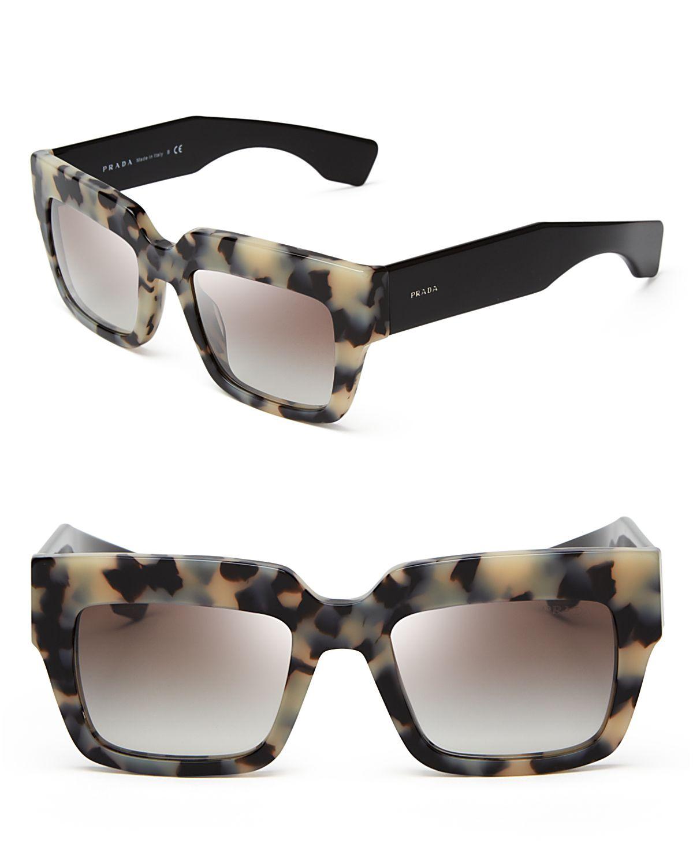 Prada Tortoiseshell square frame sunglasses pgc2YC7lD