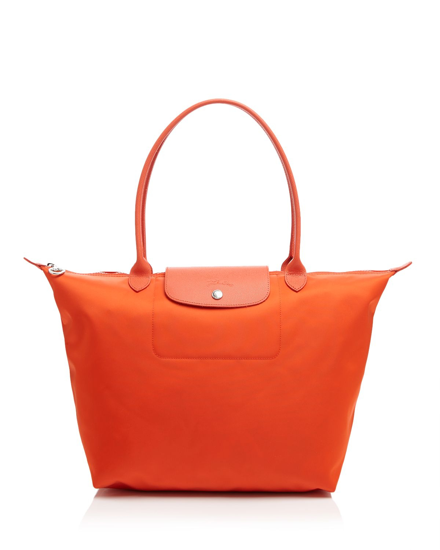 Lyst Longchamp Tote Le Pliage Neo Large In Orange