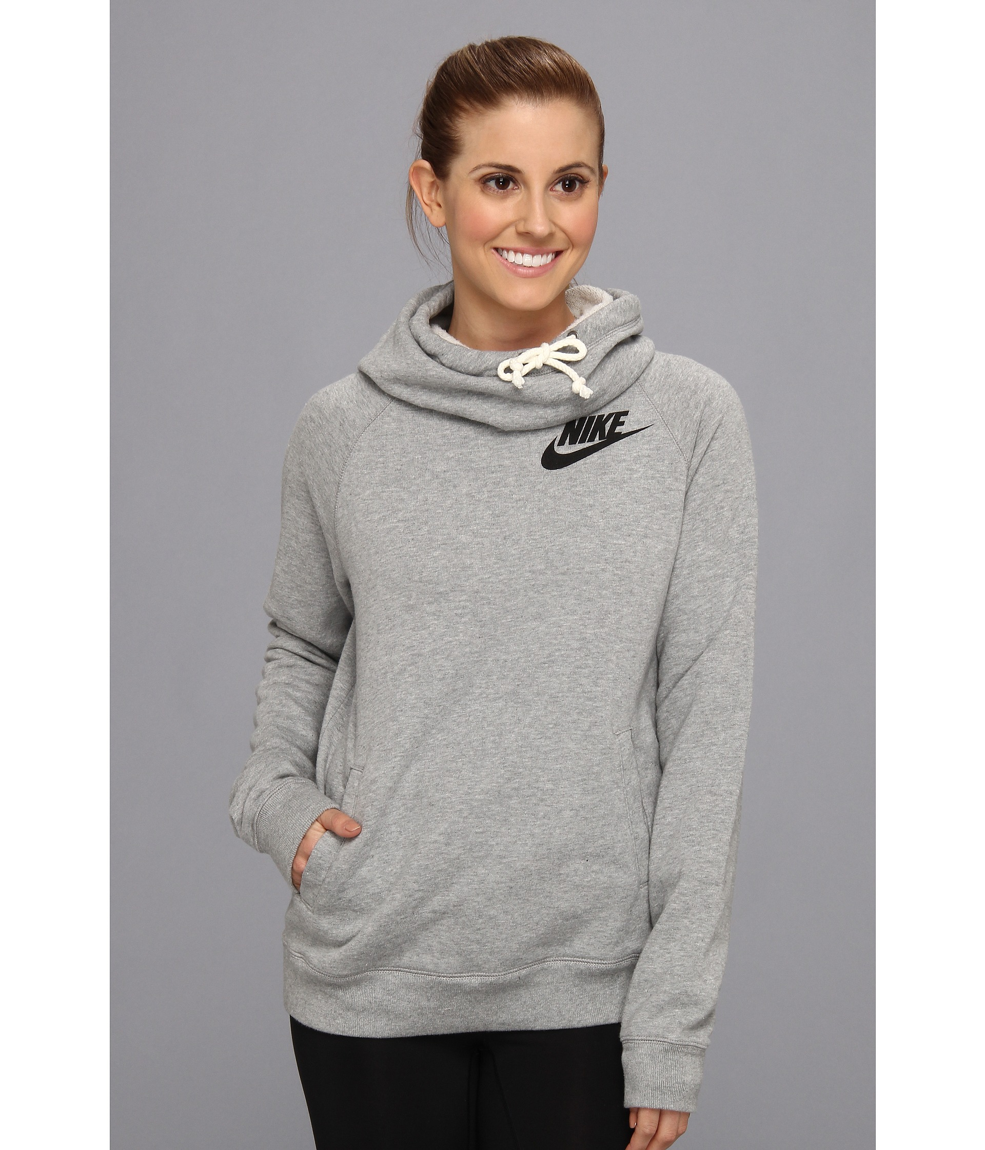 9b22900257ab Lyst - Nike Rally Funnel Neck Hoodie in Gray
