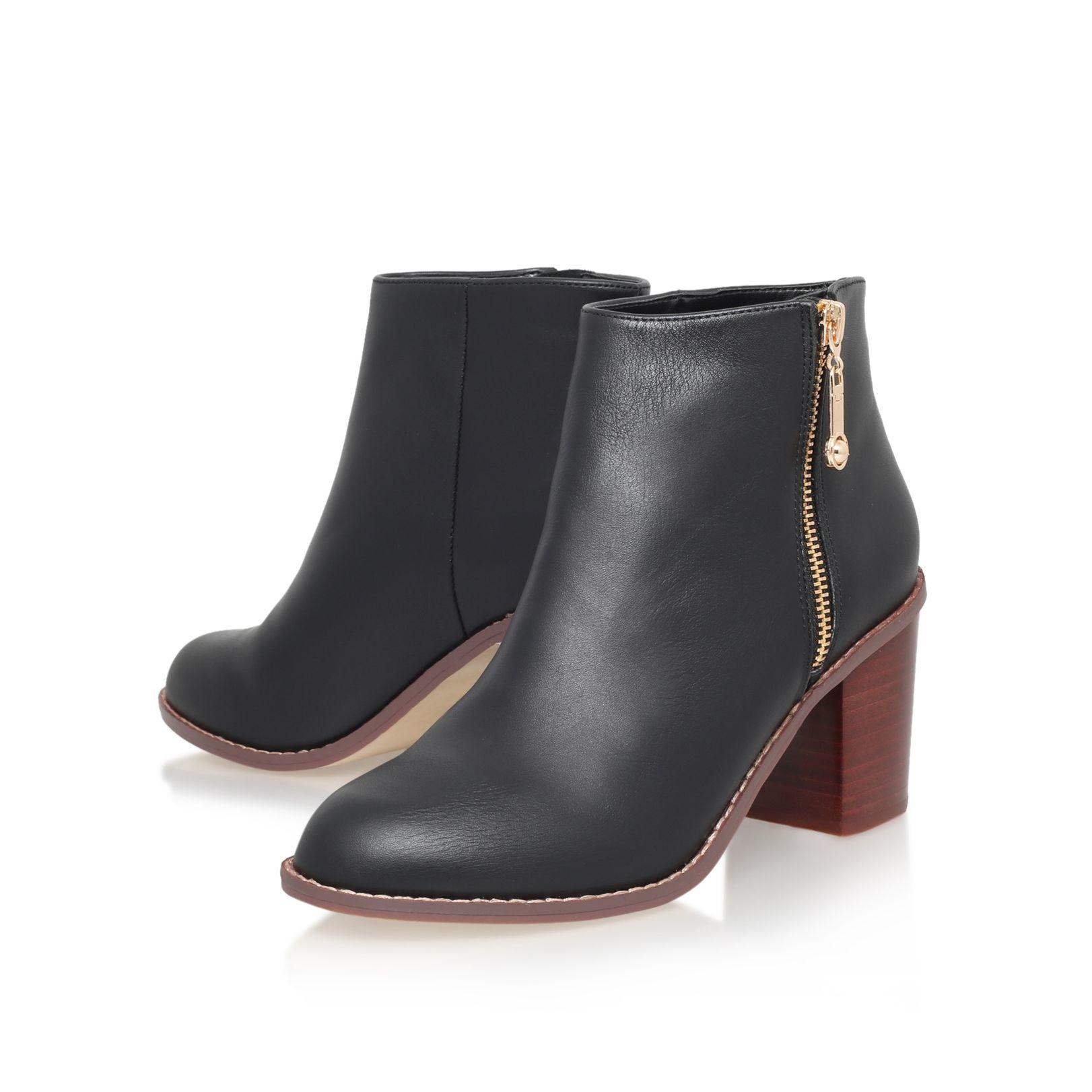 carvela kurt geiger tag mid block heel ankle boots in