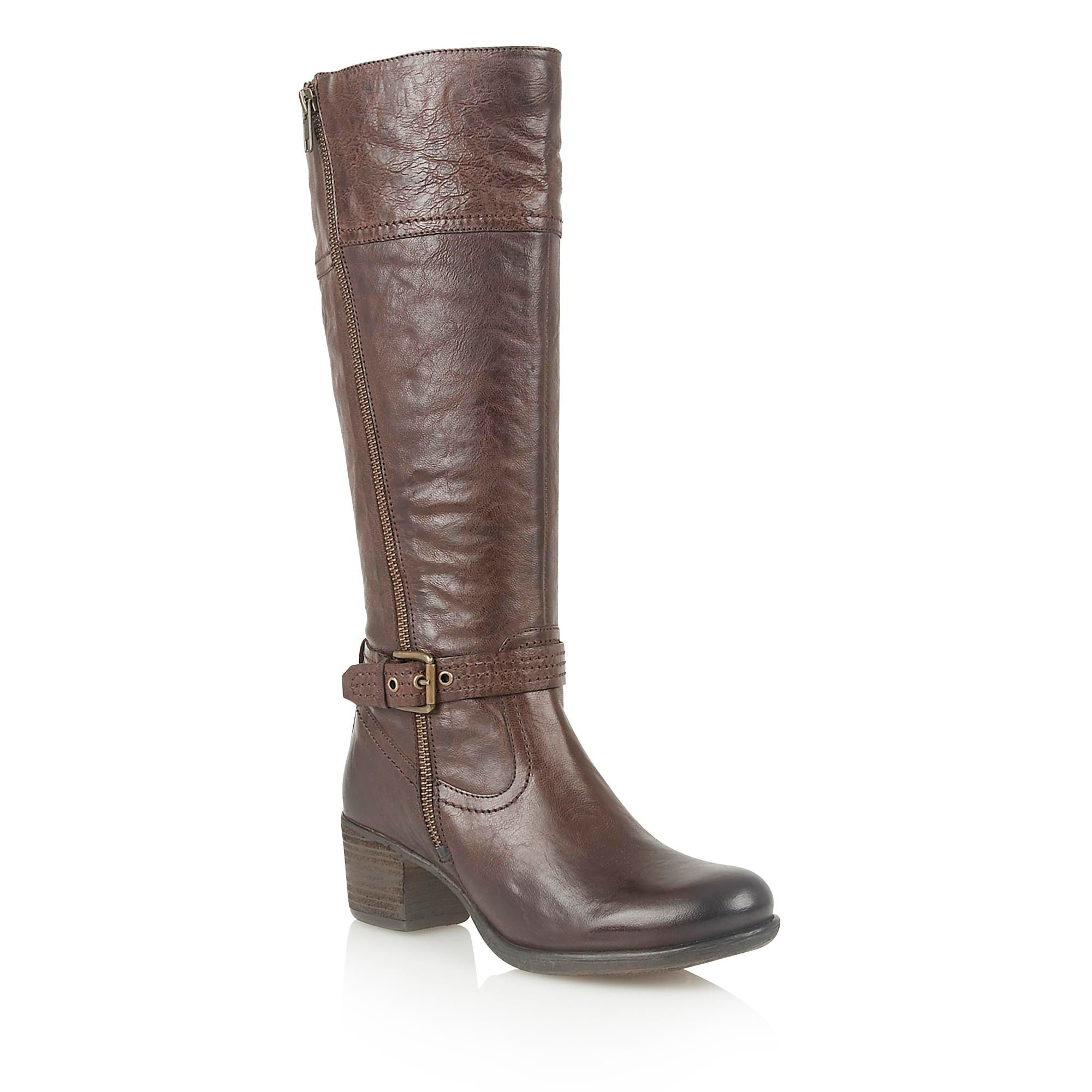 lotus staci knee high boots in brown lyst