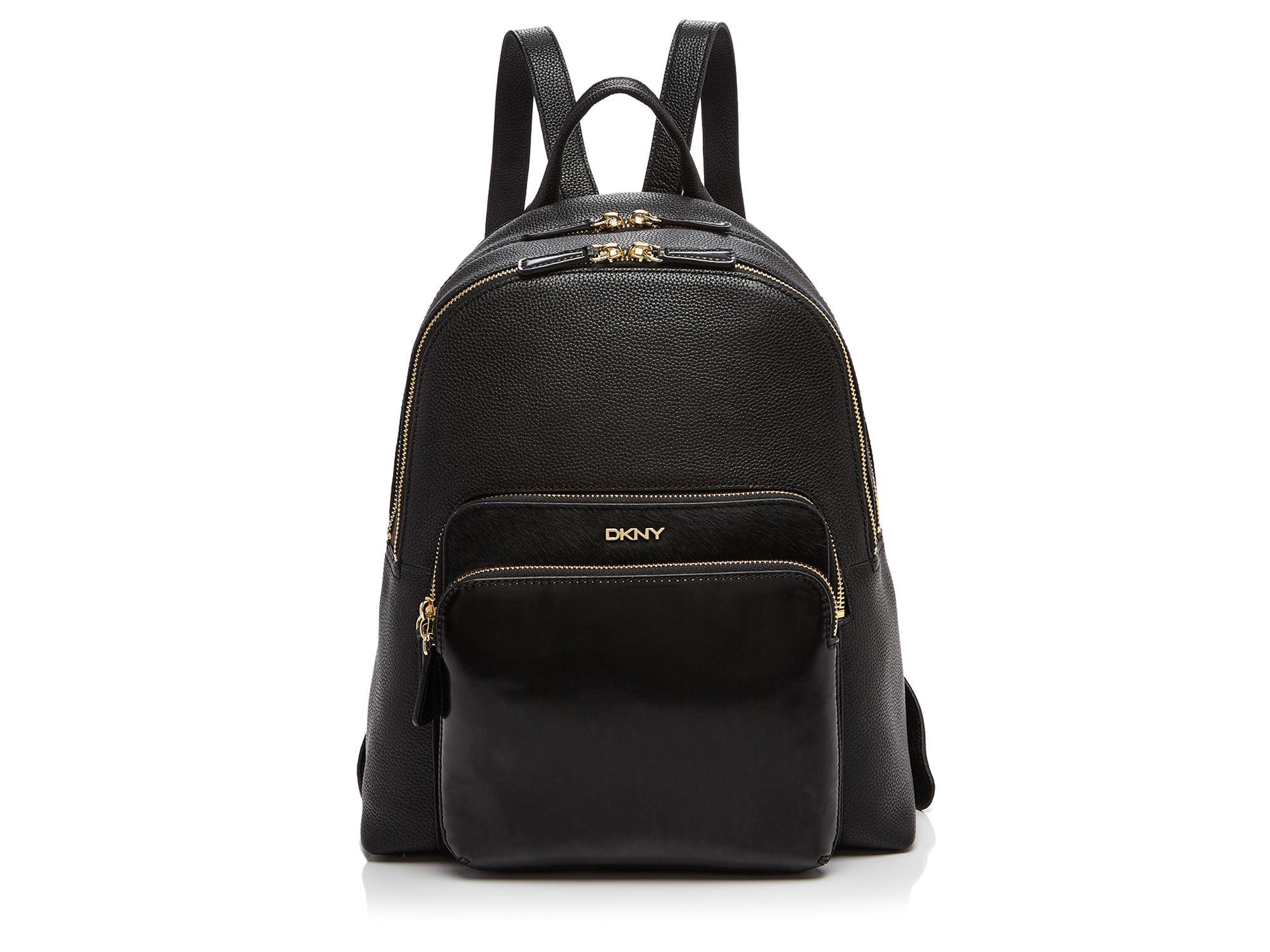 Dkny Chelsea Vintage Calf Hair Backpack In Black Lyst