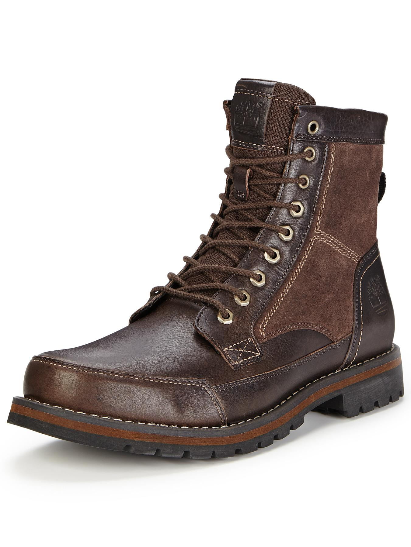 timberland larchmont 6 inch boots in brown for