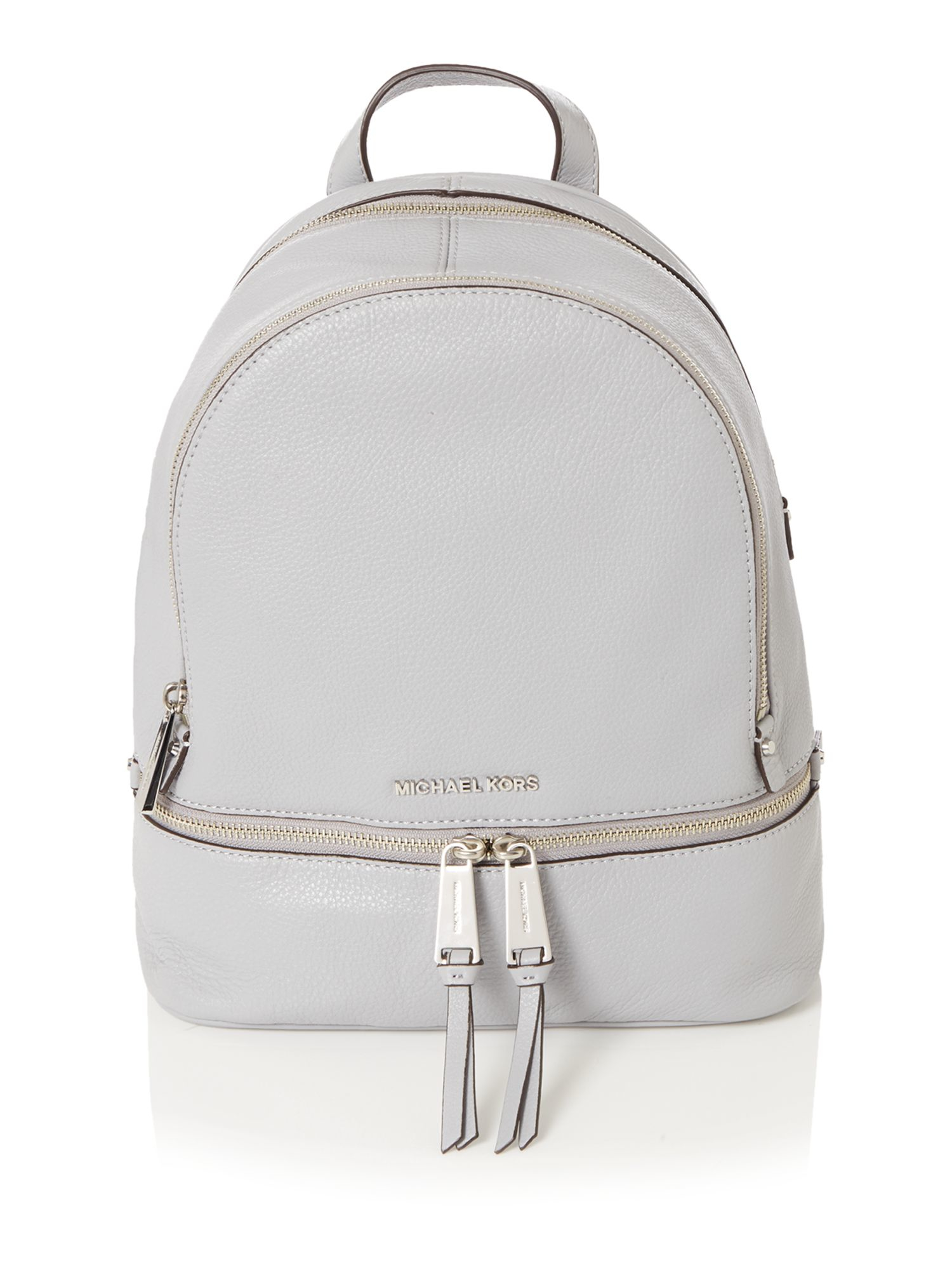 michael kors rhea zip grey backpack in gray lyst. Black Bedroom Furniture Sets. Home Design Ideas