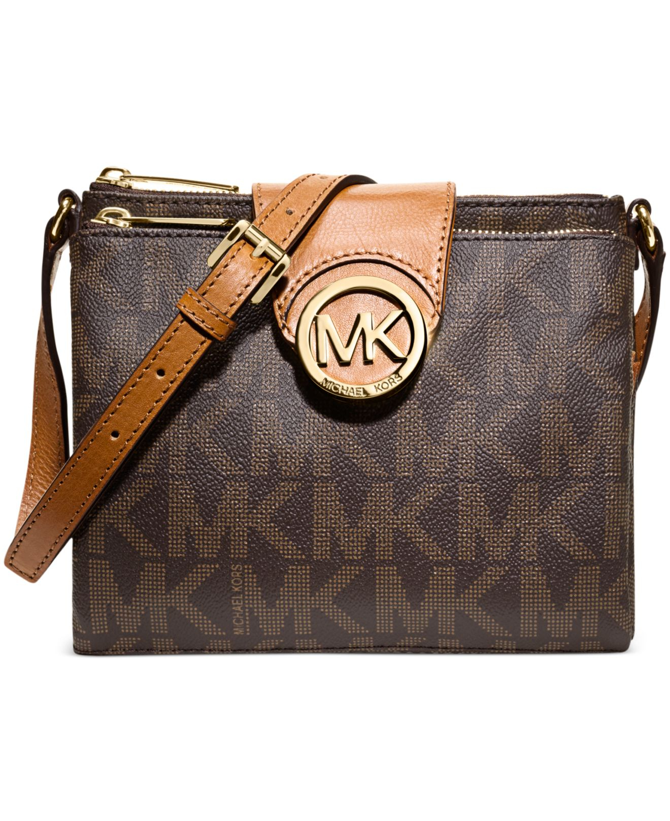 487a273a69ef Lyst - Michael Kors Michael Fulton Large Crossbody in Brown