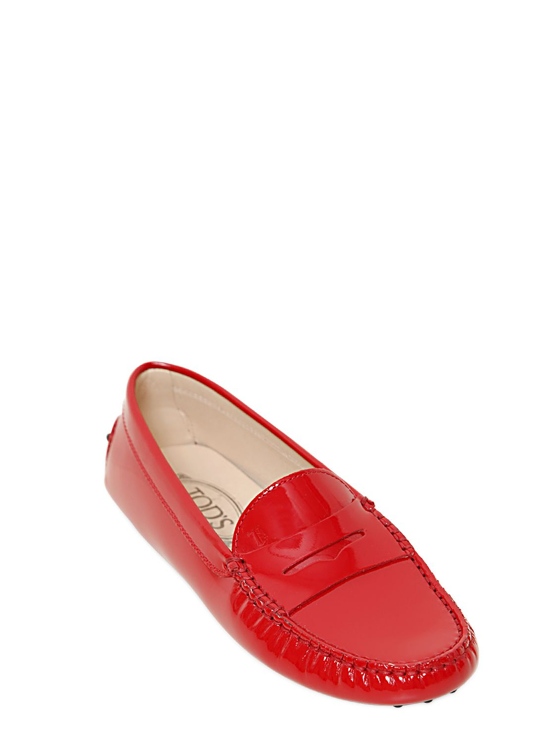 Gommino Embellished Patent-leather Loafers - Red Tod's zHxrs