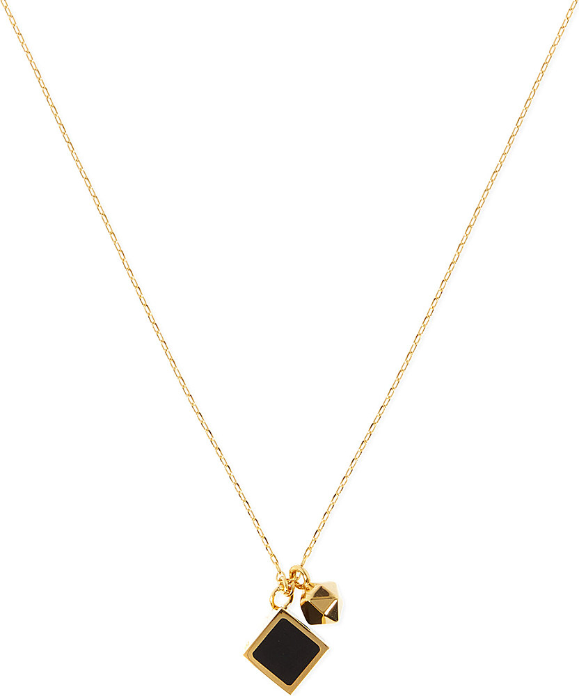 020b254025fe Fendi Cube Logo Necklace Black in Black - Lyst