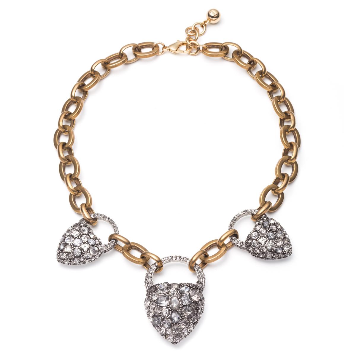 lulu blackheart necklace in metallic lyst