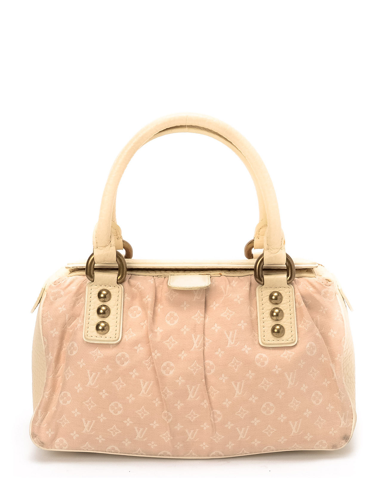 lyst louis vuitton pink trapeze pm handbag in pink