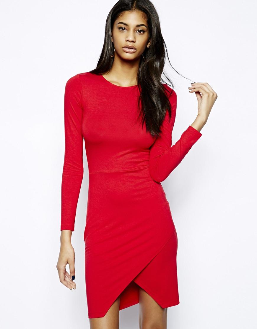 Short bodycon red dress