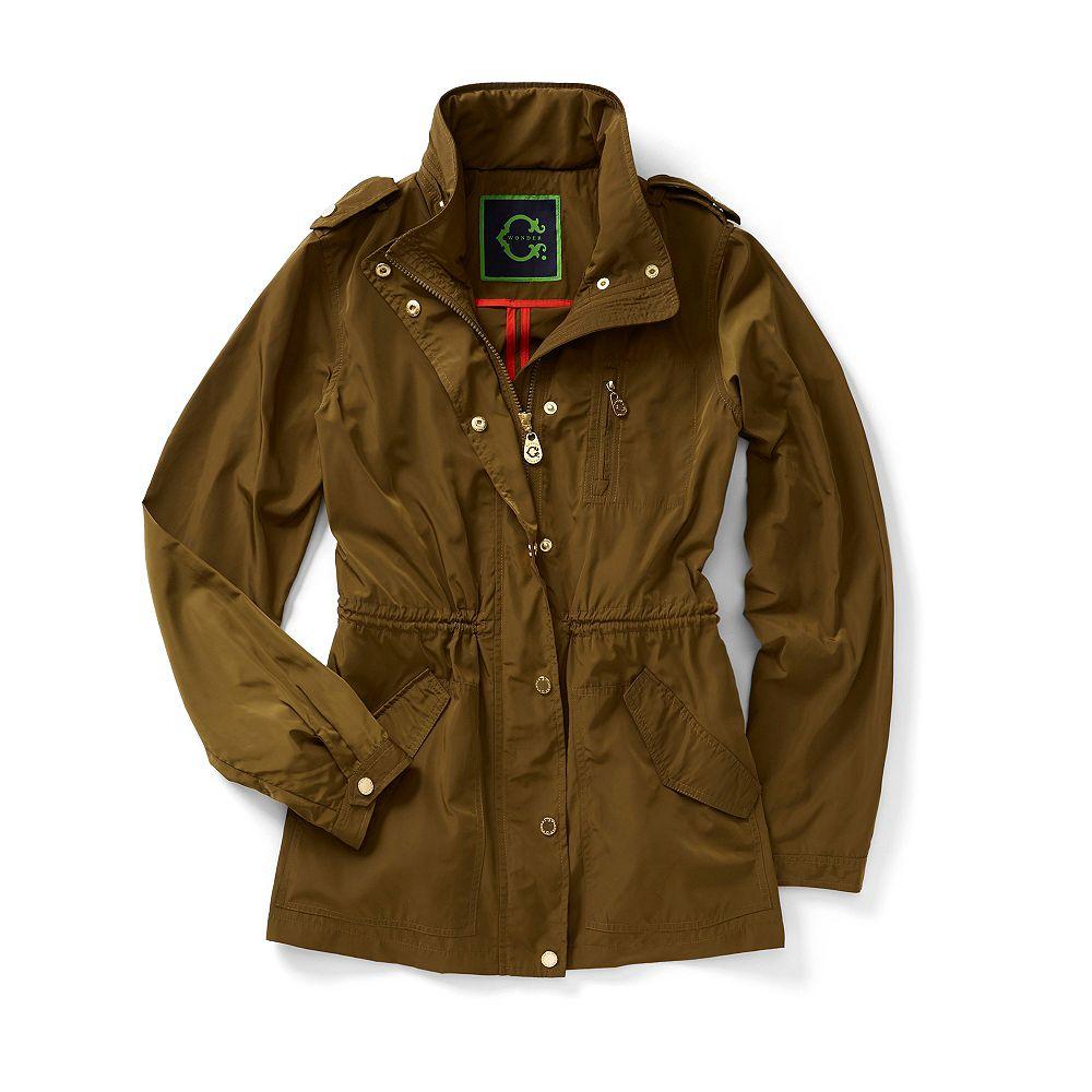 C Wonder Nylon Anorak Jacket In Green Olive Green Lyst