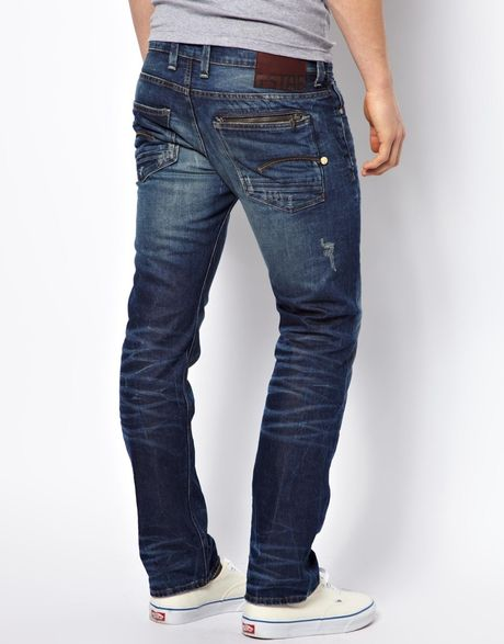 g star raw g star jeans attacc low straight lexicon medium. Black Bedroom Furniture Sets. Home Design Ideas