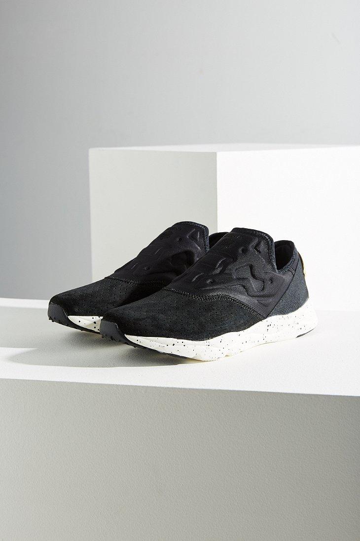 ... athletic shoes  top brands 5ef83 664de Lyst - Reebok Furylite Slip-on  Lx Sneaker in Black ... 9420dcf6a