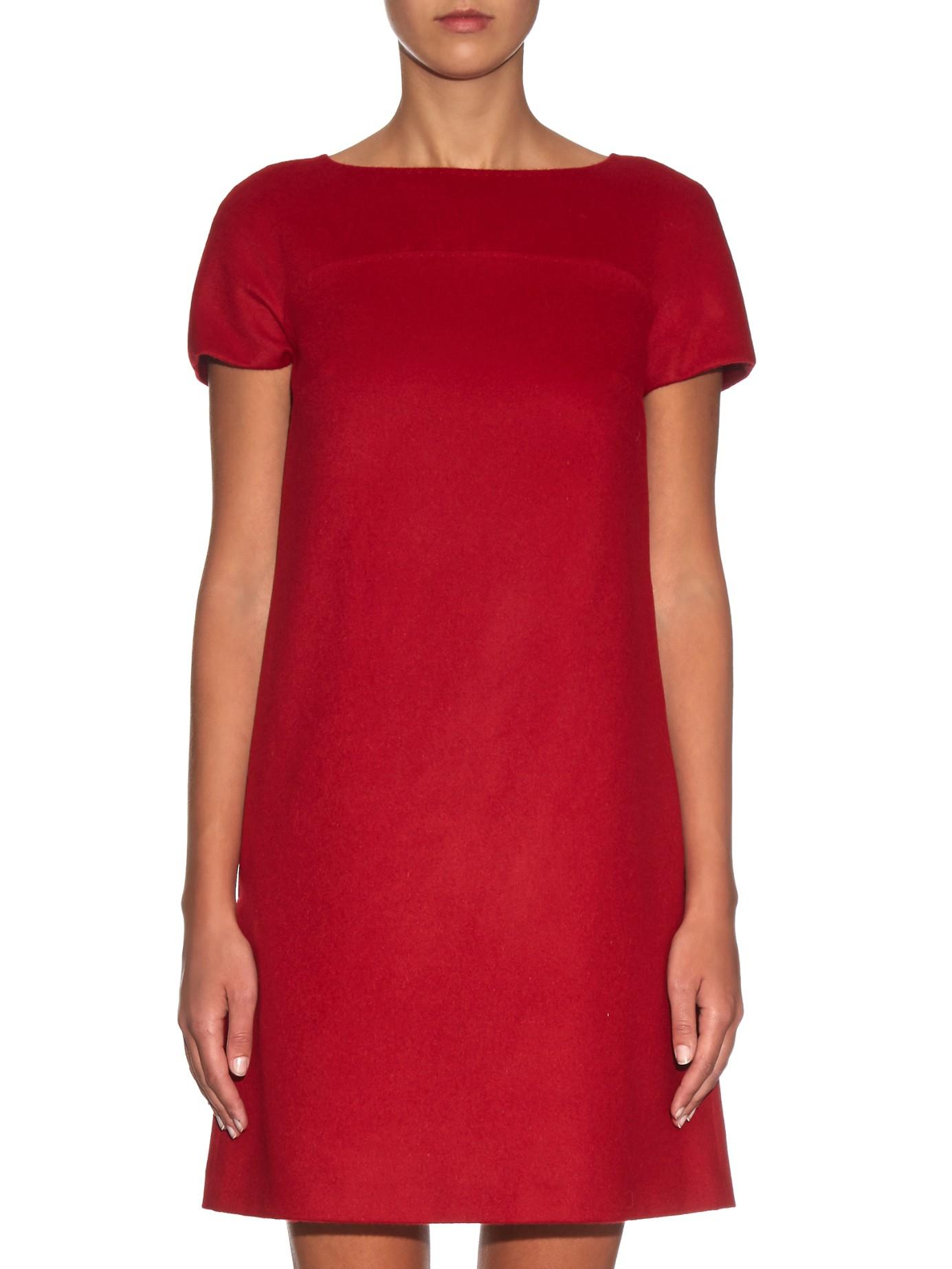 max mara studio elfo a line dress in red lyst. Black Bedroom Furniture Sets. Home Design Ideas