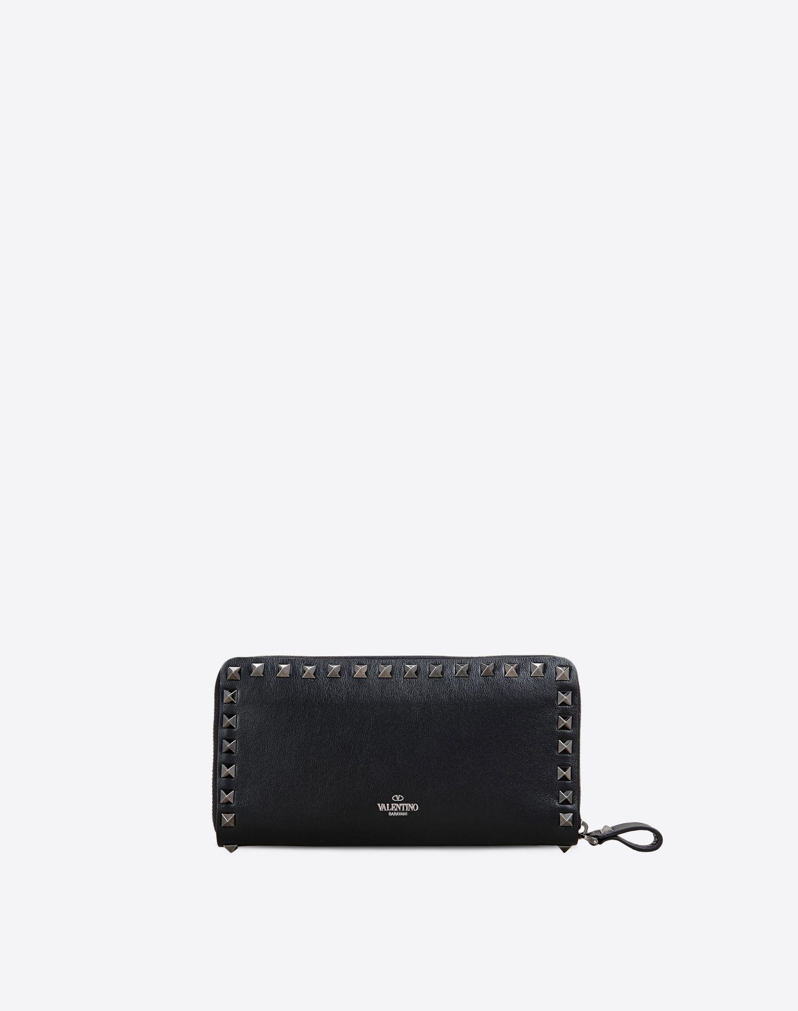 Valentino Rockstud Noir Wallet in Black | Lyst
