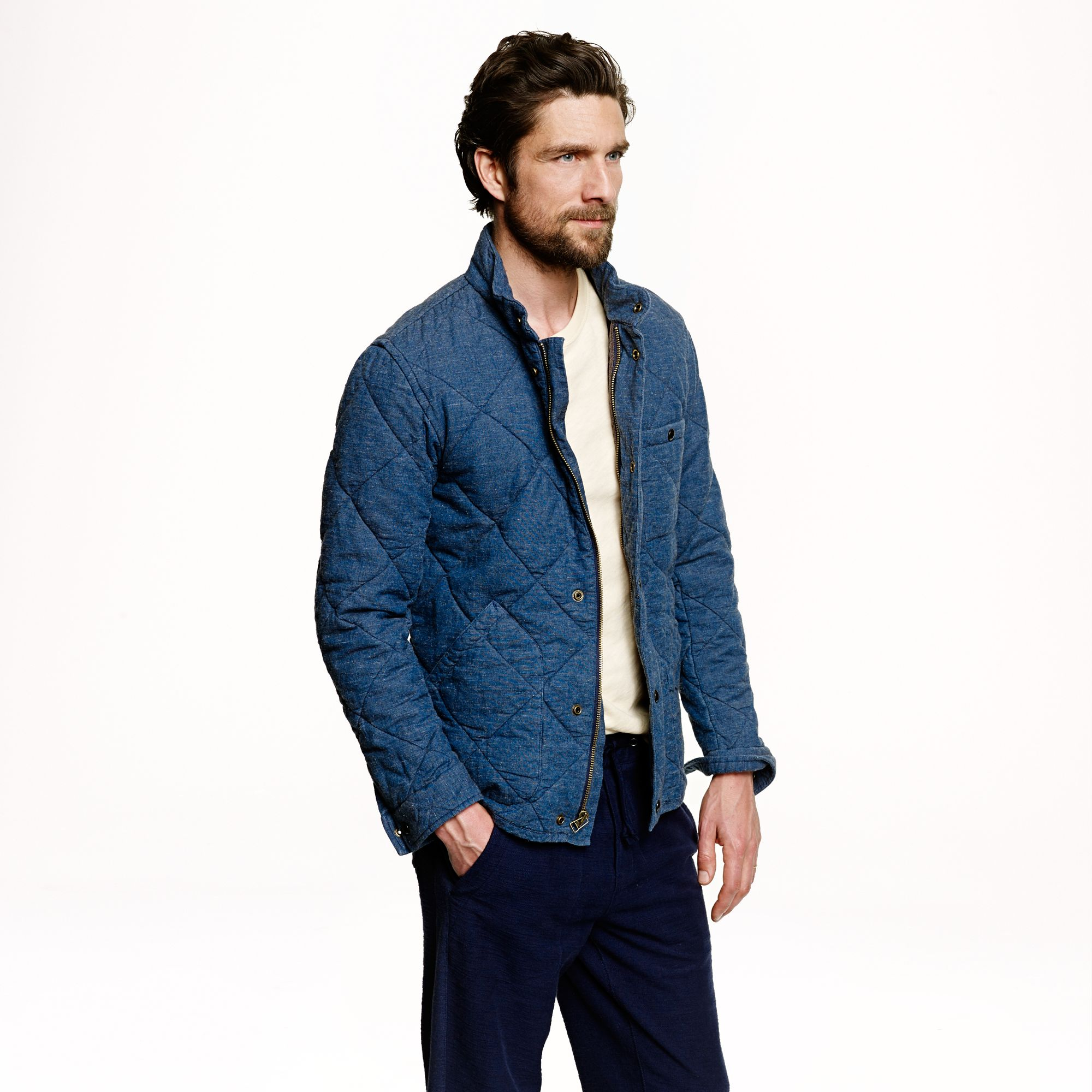 jacket clothing quilted price blue united quilt by coats p low bison at vest mens