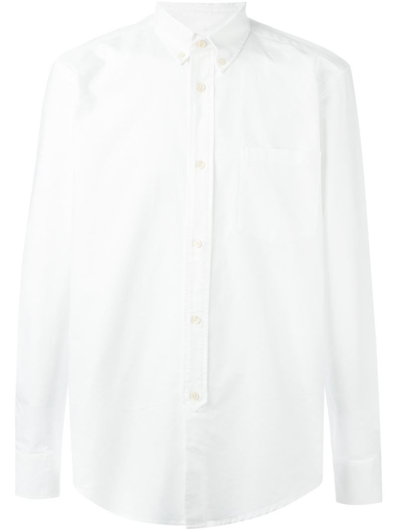 Our legacy button down collar shirt in white for men lyst for White button down collar shirt