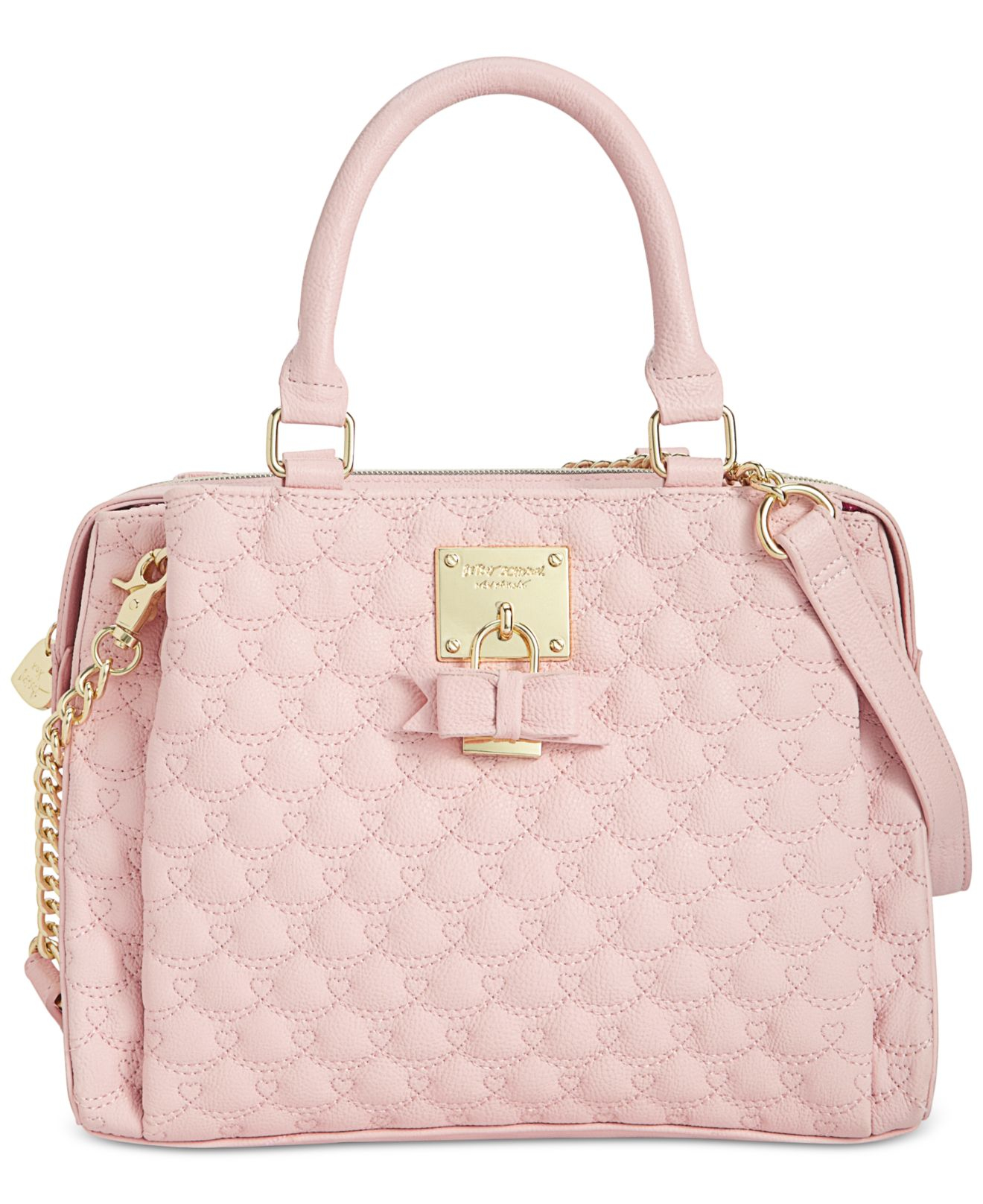 97cfd34ad4 Lyst - Betsey Johnson Triple Compartment Satchel in Pink