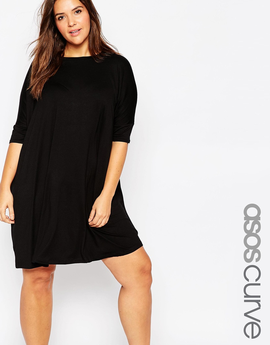 88360cc56ab ASOS The T-shirt Dress in Black - Lyst