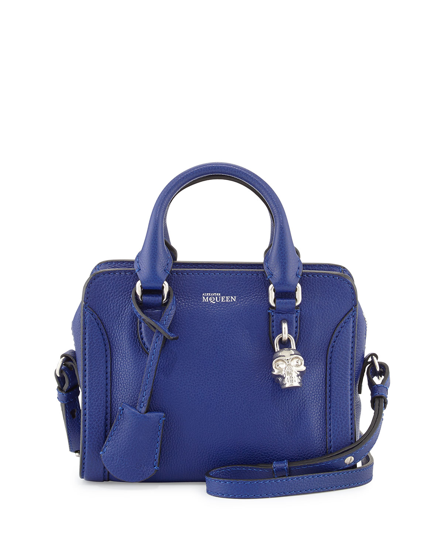 Way Brothers Ford >> Alexander mcqueen Mini Padlock Satchel Bag in Blue   Lyst