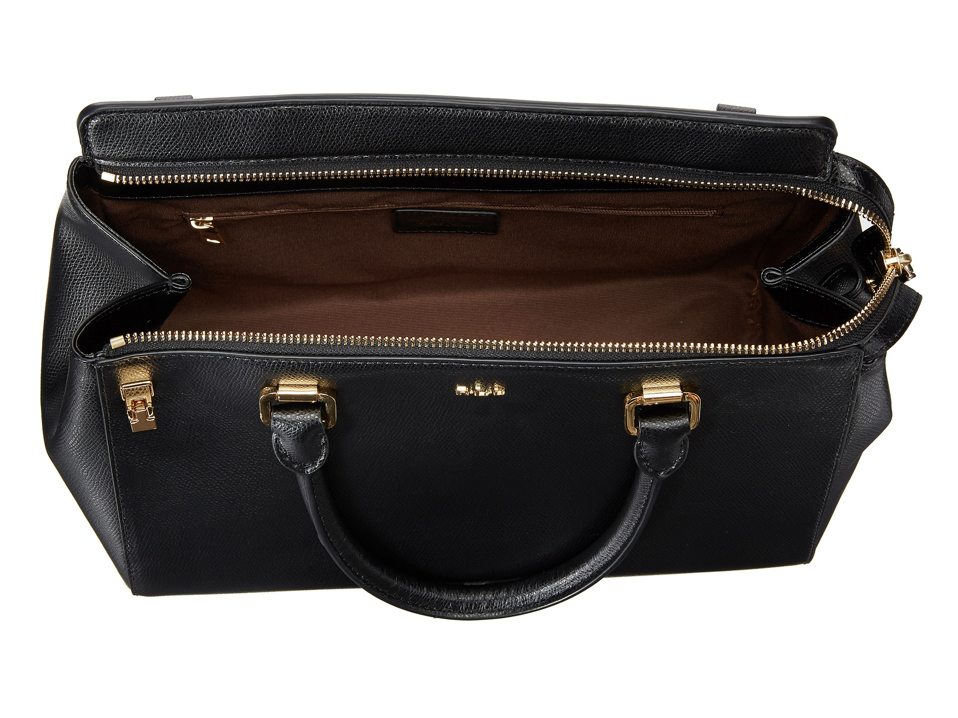 2f86d6f3997 Lyst - Lauren by Ralph Lauren Whitby Convertible Satchel in Black