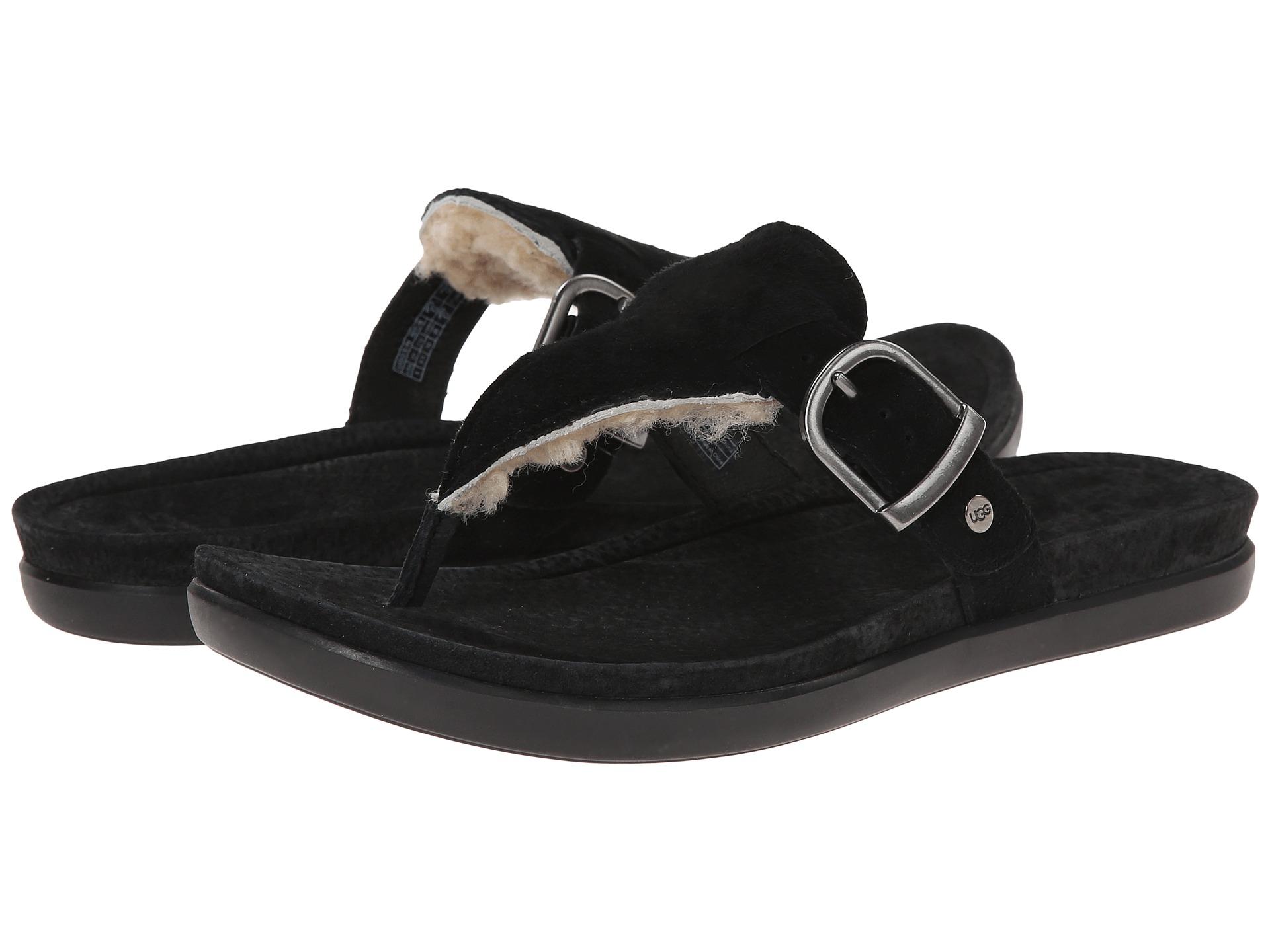 Womens Sandals UGG Vessa Black Suede
