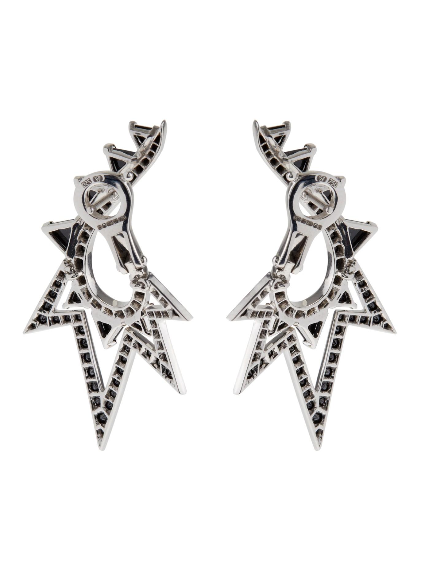 Stephen Webster Lady Stardust 18K White Gold & Diamond Earrings pIUi7YIeKc