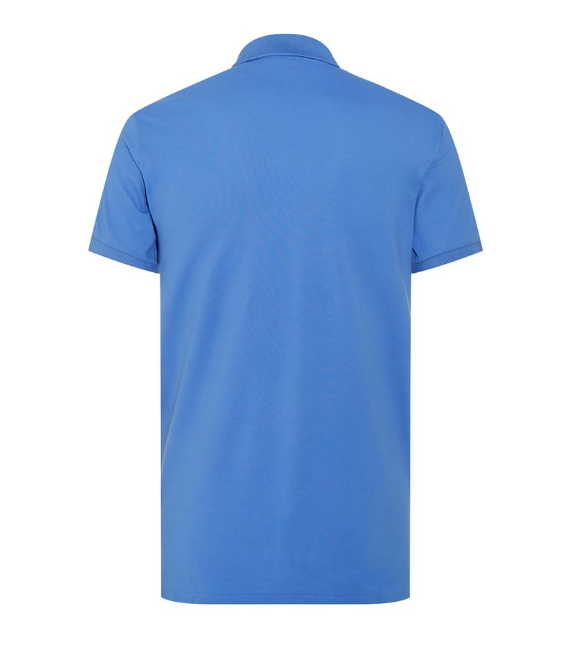 polo ralph lauren slim fit pima cotton polo shirt in blue