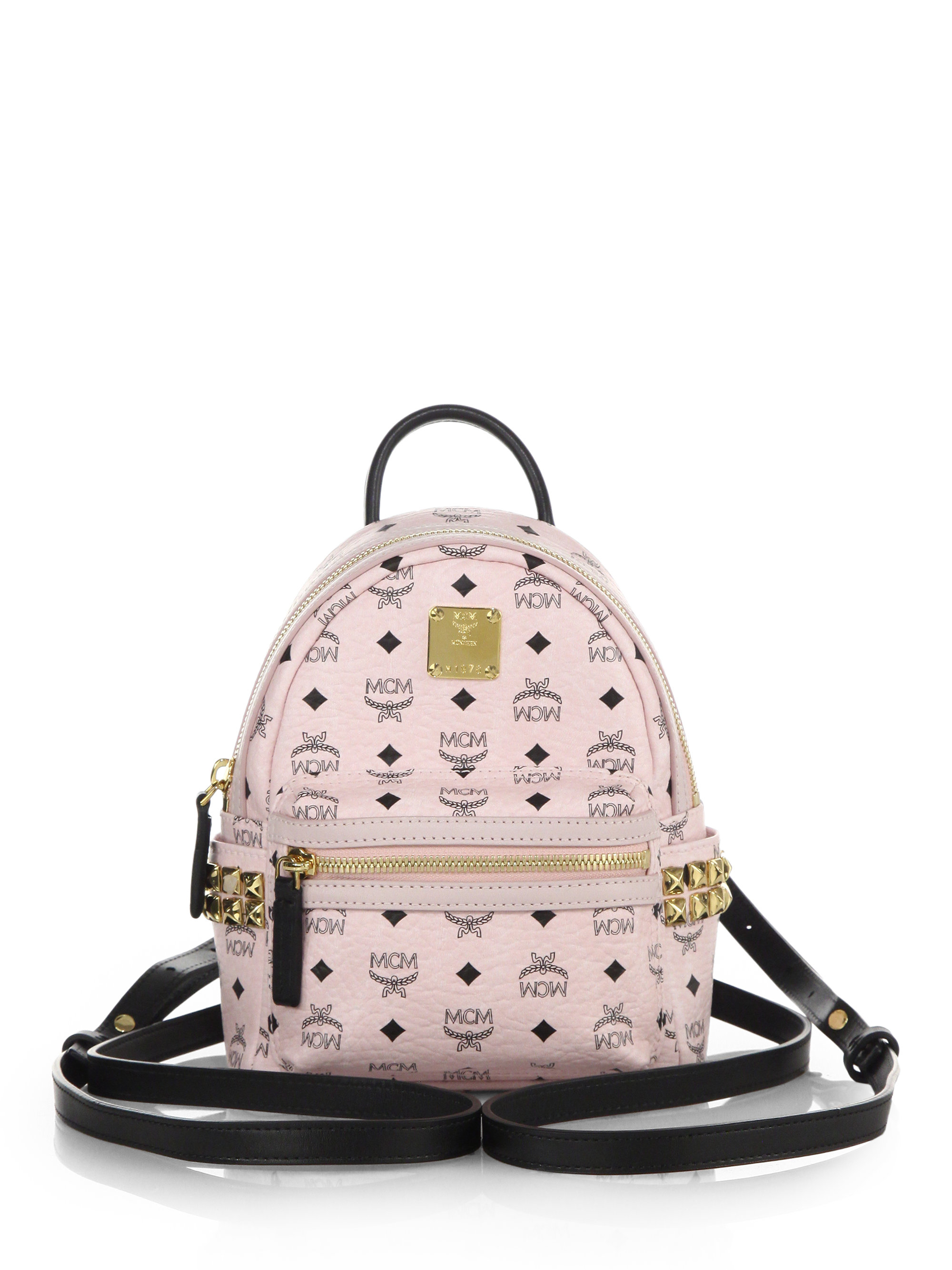 f245c16d7 MCM Stark Side Stud X Mini Coated Canvas Backpack in White - Lyst