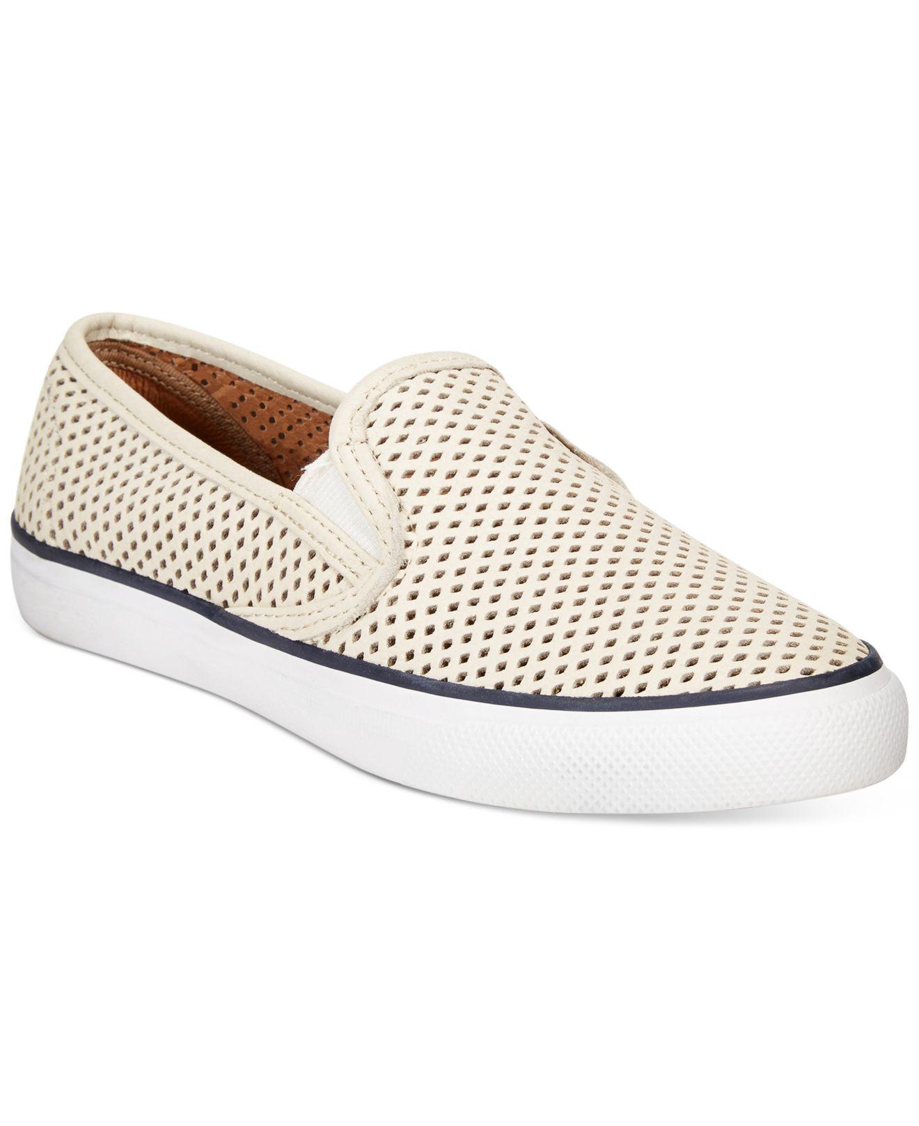 Lyst - Sperry Top-Sider Women s Seaside Slip-on Sneakers in Natural 6b805544f