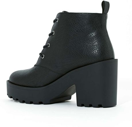 Nasty Gal Shoe Cult Marissa Platform Boots in Black