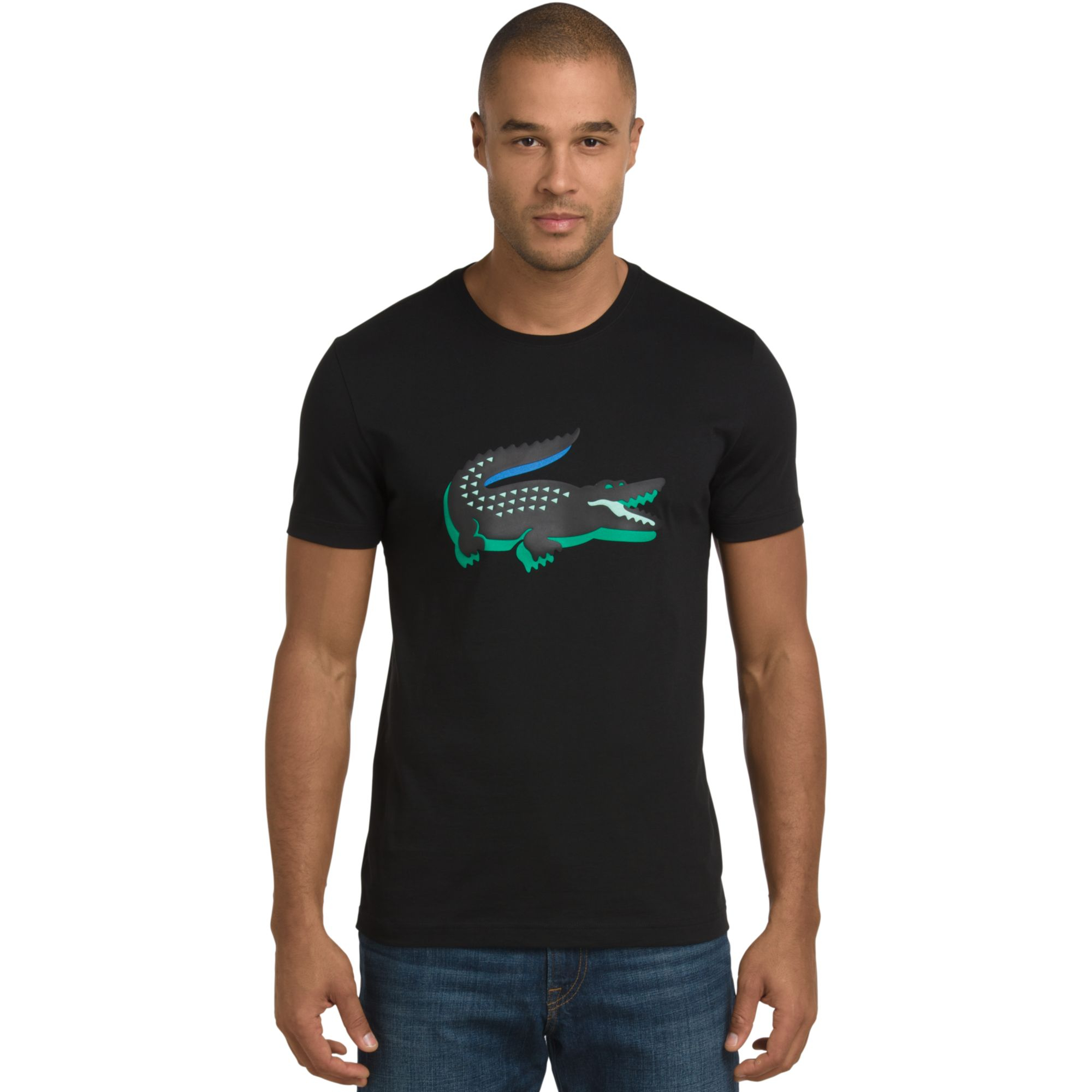 f0dd8407aee35 Lyst - Lacoste 3d Rubber Crocodile Graphic T-Shirt in Green for Men