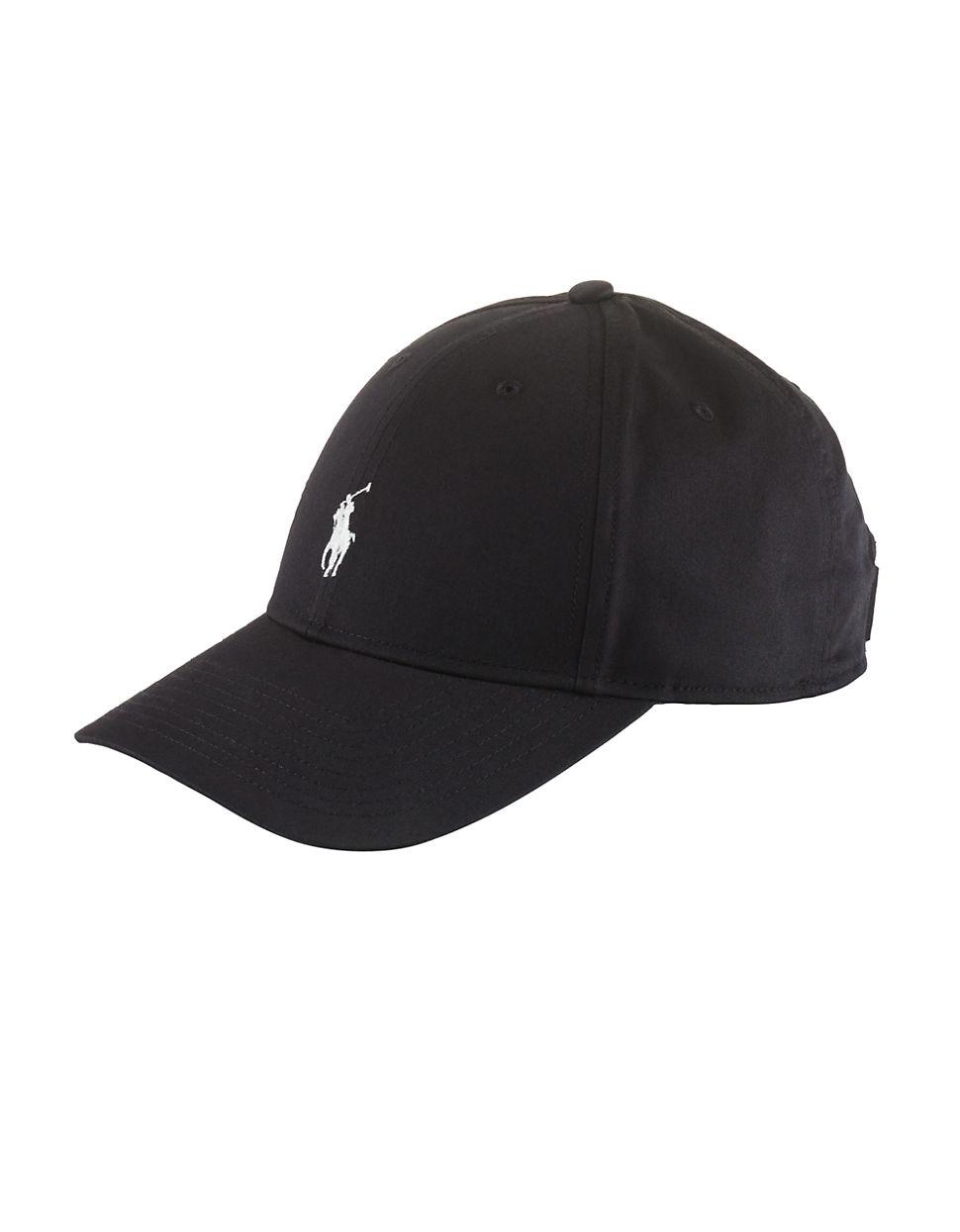 polo ralph lauren baseline hat in black for men polo black. Black Bedroom Furniture Sets. Home Design Ideas